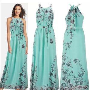 JUST IN Boho Floral Chiffon Maxie Dress 10
